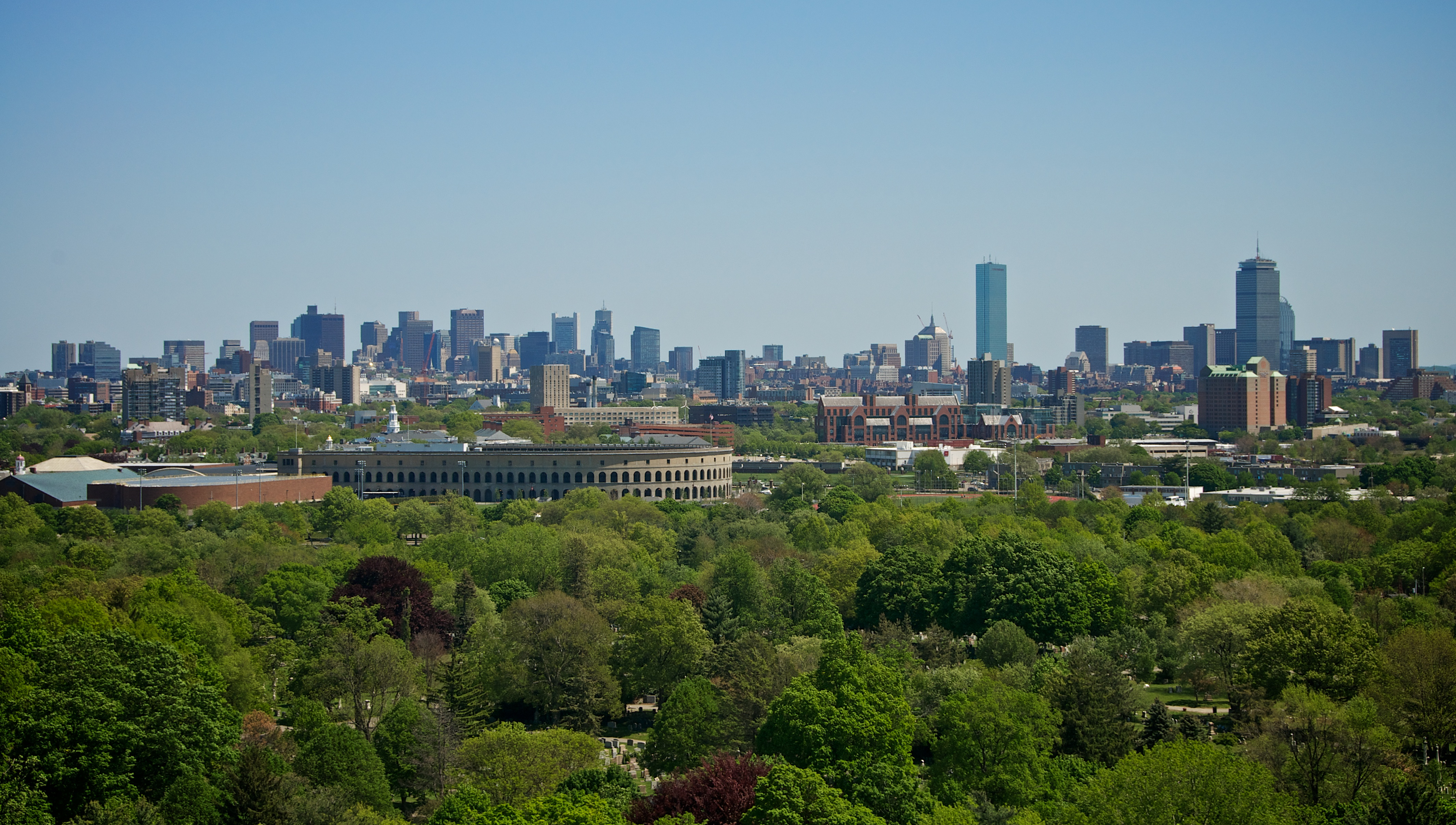 she Boston skyline fro the Tower at mt. Auburn, shot at 50mm with my ...