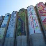 silo art all lined up