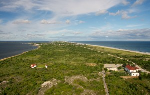 Over Fire Island