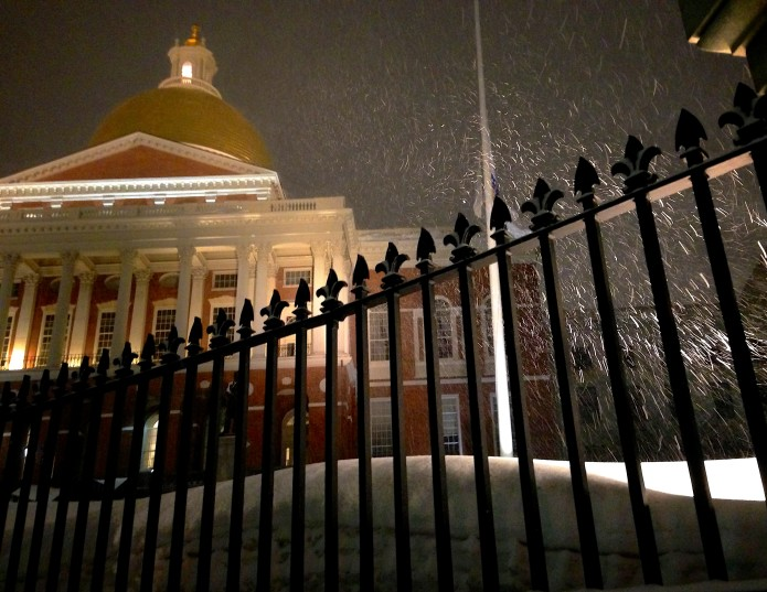 Snowy State House, Beacon Hill