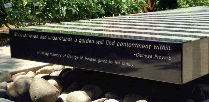 Whoever loves a garden will find contentment within