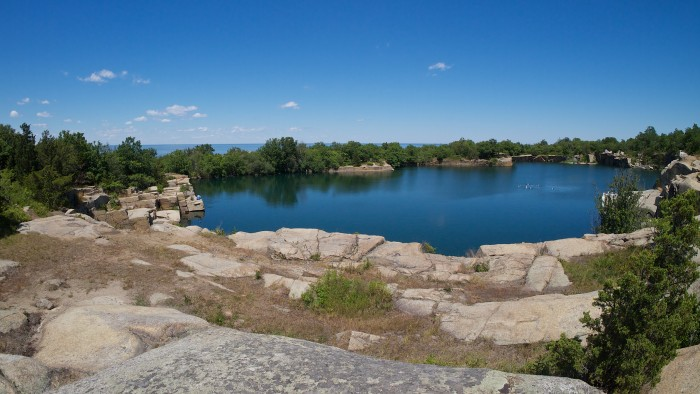 quarry and ocean