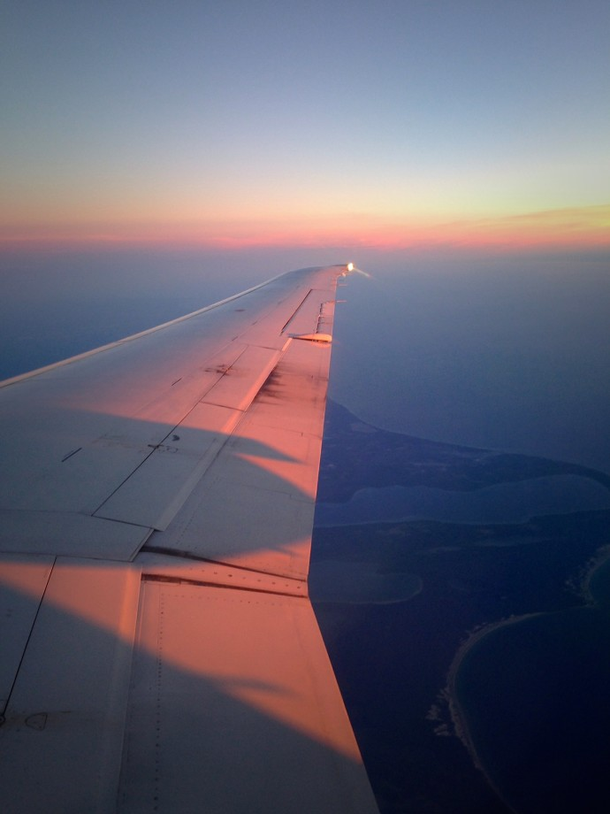 sunset over the midwest