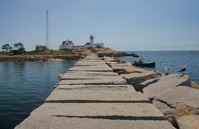 Eastern Point Light from the Breakwater