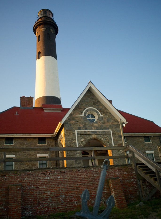 Fire Island Light (illuminated by the late afternoon sun)