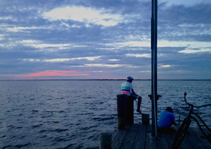 Fire Island Sunset number 5 (on the dock with bike)_final