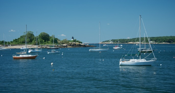 Gloucester Harbor Scene (boats and buoys)
