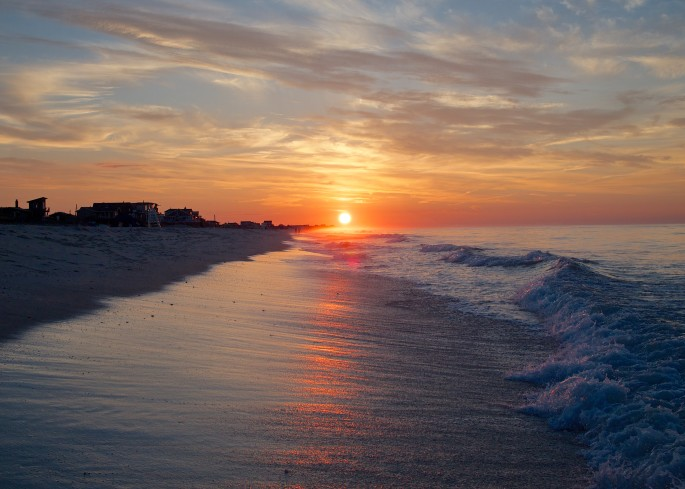The sun just rose over Fire Island