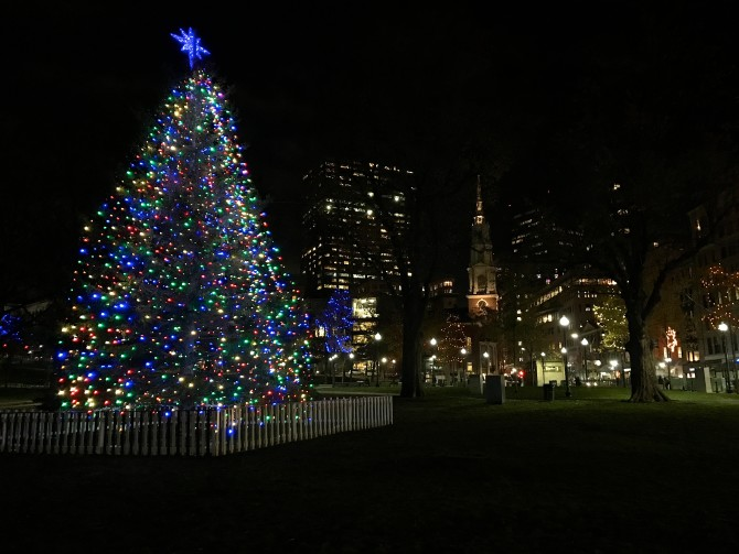 Holiday Lights on Boston Common