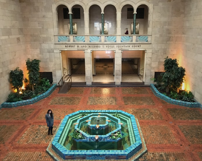 fountain court at Joslyn Art Museum2