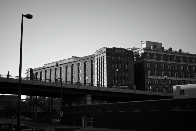 Butternut Coffee Building & 10th St Bridge in the Late Afternoon Sun_final
