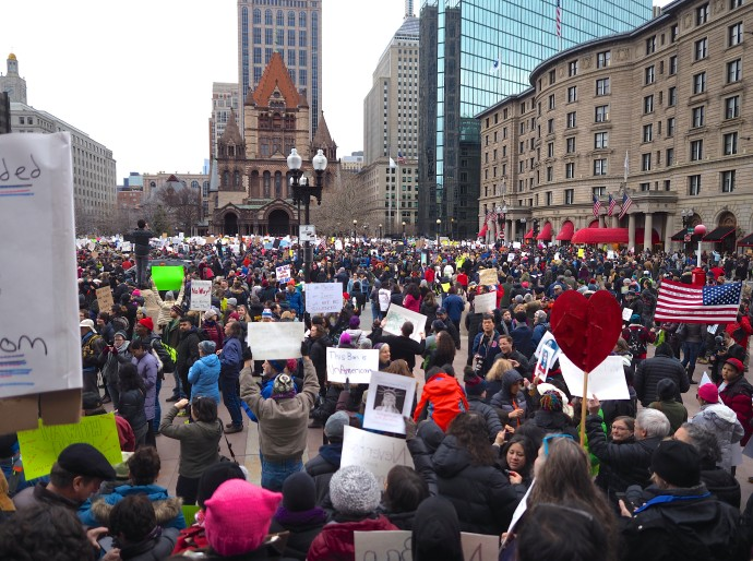 Copley Square Protest Against Trump's Muslim Ban