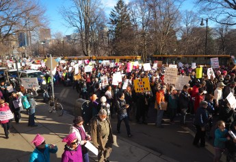 Marching Down Beacon Street