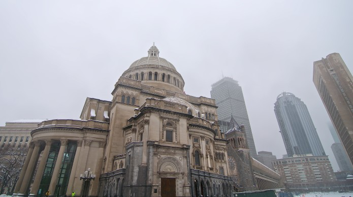 Christian Science Church in the Storm