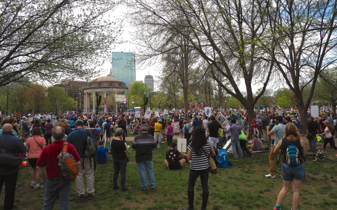 Big Crowd for the Boston Climate March
