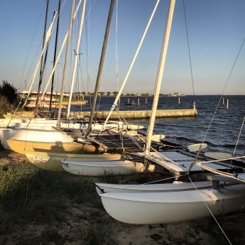 Sail boats on the Bay in the morning sun_final